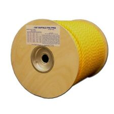 """T.W .Evans Cordage 80-005 3/16"""" by 600-Feet Buffalo Twisted Polypro Rope, Yellow"""