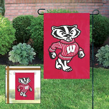 NEW Wisconsin Badgers Embroidered Garden Window FLAG
