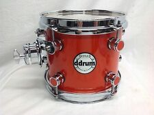 "Ddrum Reflex 8"" Diameter Mounted Tom/Alder Shell/Orange Sparkle/New"