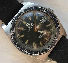 Tissot Visodate Seastar PR516 diver mens wristwatch steel case rotating bezel