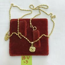 18k saudi gold necklace with head hellokitty pendant,,16inches,,