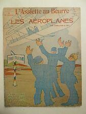 L 'Assiette au Beurre, les Aeroplanes, AVIAZIONE, volare, aerei, tecnologia