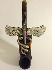 HANDMADE TOBACCO PIPE, Medical Symbol Design.