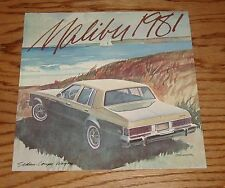 Original 1981 Chevrolet Malibu Sales Brochure 81 Chevy