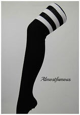 Ladies Over the Knee Socks Thigh High Striped Stripey Colours Referee Sports UK