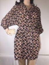 The Webster Miami At Target Sheer Floral Print Micro Mini Robe Open Front - XS/S