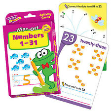 TREND Numbers 1-31 Wipe Off Educational Activity Game Cards