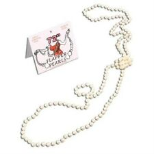 """New 72"""" 1920s Charleston Great Gatsby Flapper Pearl Necklace Fancy Dress P909"""