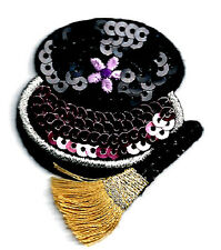 COSMETICS/COMPACT W/BRUSH & SEQUINS IRON ON APPLIQUE