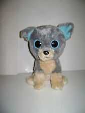 "TY Beanie Boo's 10"" SCRAPS DOG PUP Boo Gray Beige 2000 stuffed animal plush CUTE"