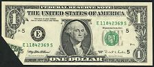 $1.00 1995 Series With Foldover On Lower Left Error Bt5687