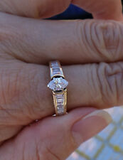 .50ct Marquise center 1.30ct Accents 14k YG engagment ring