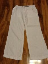 River Island Woman's White  Linen Trouser Size10/36