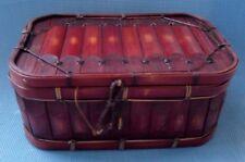 Very Nice Antique Bamboo Sewing - Storage Basket - Box