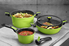 STONELINE® Imagination 8 pc cookware set, with removable and interchangeable han