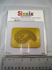 SIZZIX Simple Impressions Paisley Embossing Folder  ***Craft Clear Out***
