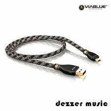 ViaBlue 3m KR-2 Silver USB-Kabel 2.0 / Stecker A/Mini-B / 3,00m…HIGH END