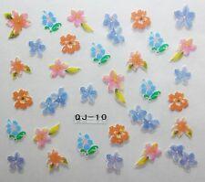Nail art stickers bijoux d'ongles manucure: Fleurs des îles - multicolores
