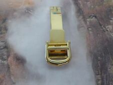 Authentic must de Cartier Gold Tone Deployment Folding Clasp Buckle 12 mm Band