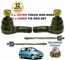FOR DAEWOO CHEVROLET MATIZ 1998-  2x OUTER & 2x INNER TRACK TIE RACK ROD END SET