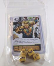 DC Dice Masters Justice League _____ BOOSTER GOLD Set RARE UNCOMMON CUR + 4 DICE