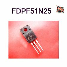 Fairchild SEMICONDUCTOR-FDPF51N25-preamplificatore MOSFET allo, N CH, 250 V, 28, to220f UK STOCK