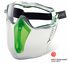 Univet 6X3 Safety Goggles & Protective Face Shield (6X3.00.00.00 & 6X3F.01.00)