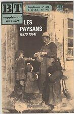 Supplément BT Bibliothèque de travail n°482 Les paysans (1870-1914)