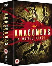 ANACONDAS COMPLETE MOVIE QUADRILOGY 1-4 DVD BOX SET ALL 1 2 3 4 FILM Collection