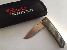 Reate Wave Folding Knife! Anodized Titanium Framelock Flipper w/ M390 Blade!