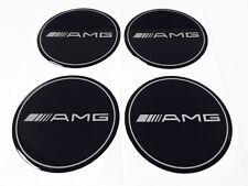 Mercedes Benz AMG schwarz Felgen Aufkleber Nabendeckel Nabenkappen Logo 4x60 mm