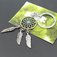 Retro Native Bohemia Indian Feather DREAMCATCHER Keychains Keyrings For Men 1Pc