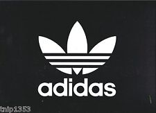 Small Adidas Black and White Sign For Home-Car-Office 9 inches X 12 inches