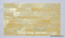 "1pcs gold mother of pearl shell veneer sheet inlay blanks 9.45"" x 5.5"""