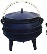 Cauldron Cast iron Potjie pot Sz 3/4 Outdoor Survival Syrup Cookware Pagan