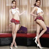 Sexy Womens Lingerie School Girl Costume Halloween Cosplay Dress Uniform Outfit