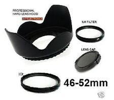 LENS HOOD+UV+CAP 46mm 4:JVC GZ-HD7 GZ-HD3 MG575 MG555