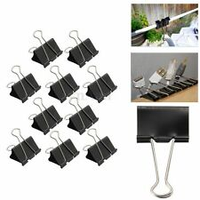 10x Foldback 51mm Grip Clips Clamp Organizer Bulldog Style For Paper Document