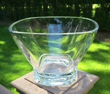 VTG Colle Kristall Krisla Footed Square Centerpiece Crystal Bowl Italy Signed