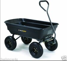 Black 600 Pound Load Poly Dump Cart For Yard Lawn Garden Supplies Debris Wagon