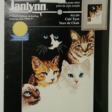 Janlynn Cats Eyes Counted Cross Stitch Kit New Sealed 1998 Needle Craft