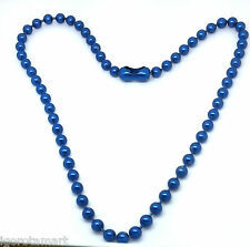 NEW MEN WOMEN FASHION BLUE BEAD BEADS NECKLACE BODY JEWELRY