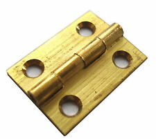 "2 PACK 1""  25mm SOLID BRASS DRAWN BUTT HINGES SC + SCREWS [ HG206 ]"