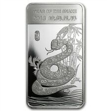 Year of the Snake 2013 1/2 oz .999 Silver Bar