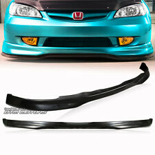 Type-R Style Polyurethane Front Lower Bumper Lip For 2001-2003 Honda Civic 2/4Dr