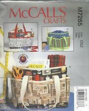 McCALL'S SEWING PATTERN PROJECT KNITTING SEWING BAGS BAG   M7265