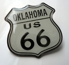 ZP11 Classic Oklahoma Route 66 Shield Enamel Lapel Pin Badge Biker Motorcycle
