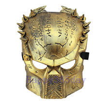 Gold Predator Cosplay Mask Halloween Costume Fancy Dress Full Face Mask