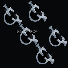 5 Pcs Dental Cheek Retractor C–Shape with handle wings PP White Color Italy Site