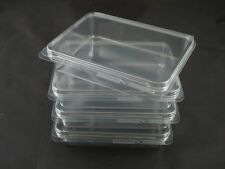 4 NEW Clear Plastic Storage Cases Small 4x3 - Rubber Stamps, Crafts, Hardware